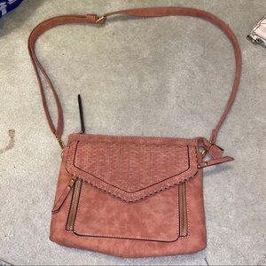 Handbags - Brown blush bag purse NWOT